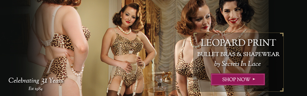 Vintage Leopard Garter Belt by Secrets In Lace