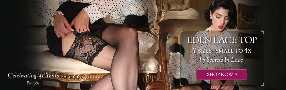 Eden Lace Top Stocking in 7 sizes