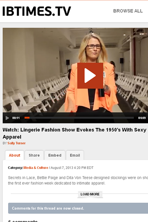 International Business Times Covers SIL SS14 Fashion Show
